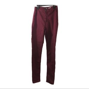 Maroon cinched butt pants size 5